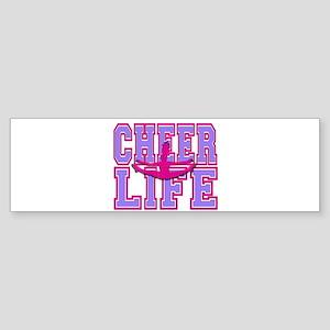 Purple and Pink Cheerleader Bumper Sticker