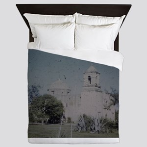 PICT0052 travel trees and castle Queen Duvet