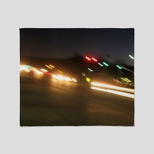 IMG_9518 traffic at night Throw Blanket