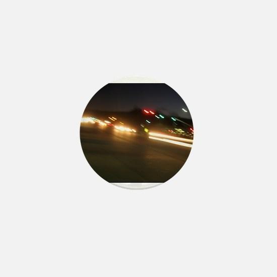IMG_9518.JPG traffic at night Mini Button