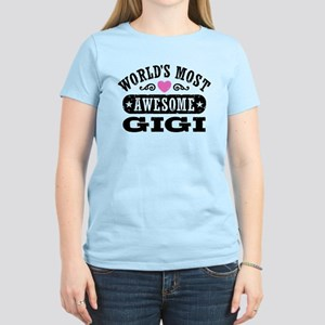 World's Most Awesome Gigi Women's Light T-Shirt
