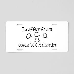 O.C.D. Obsessive Cat Disorder Aluminum License Pla