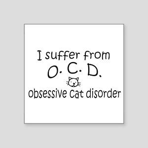 O.C.D. Obsessive Cat Disorder Sticker