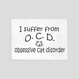 O.C.D. Obsessive Cat Disorder 5'x7'Area Rug