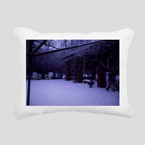 PICT0054 winter scen Rectangular Canvas Pillow