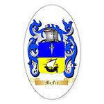 McFie Sticker (Oval 50 pk)