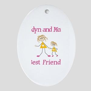 Brooklyn & Mommy - Friends Oval Ornament