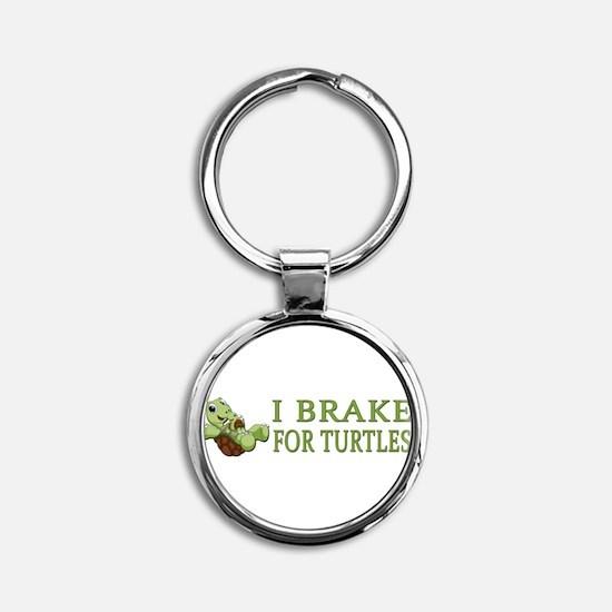 Unique Baby turtle Round Keychain