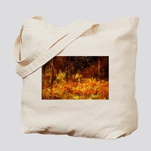 golden fall foliage in forest Tote Bag