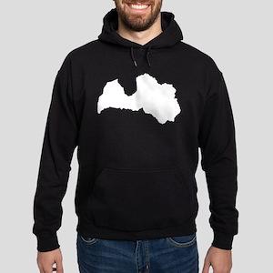 Latvia Silhouette Hoodie