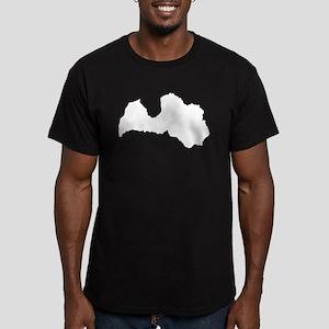 Latvia Silhouette T-Shirt