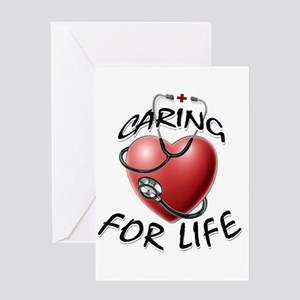 Caring for Life Nurse RN Heart Greeting Cards