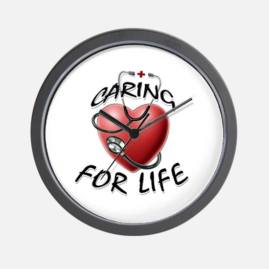 Caring for Life Nurse RN Heart Wall Clock