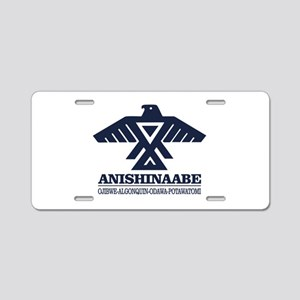 Anishinaabe Aluminum License Plate