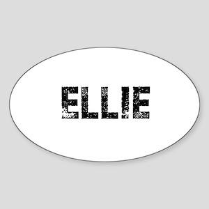 Ellie Oval Sticker