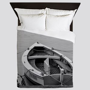 Docked Sailboats Queen Duvet