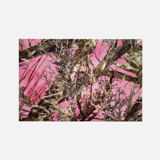 Funny Hunting pink camo Rectangle Magnet
