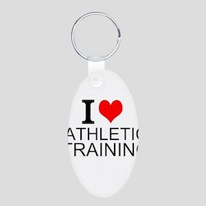 I Love Athletic Training Keychains
