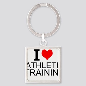I Love Athletic Training Keychains