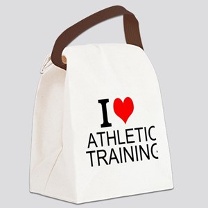 I Love Athletic Training Canvas Lunch Bag