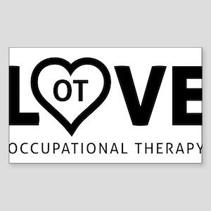 LOVE OT Sticker (Rectangle)
