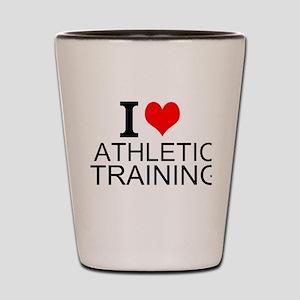 I Love Athletic Training Shot Glass