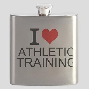 I Love Athletic Training Flask