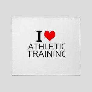 I Love Athletic Training Throw Blanket