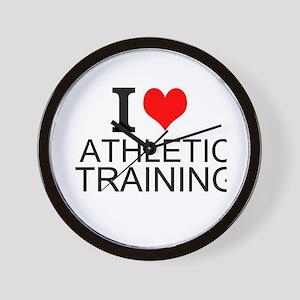 I Love Athletic Training Wall Clock