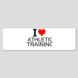 I Love Athletic Training Bumper Sticker