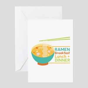 Breakfast Lunch & Dinner Greeting Cards