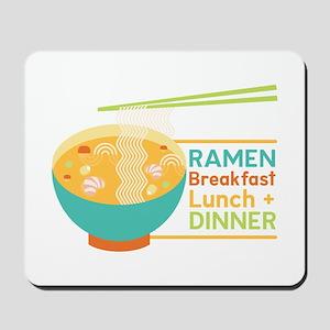 Breakfast Lunch & Dinner Mousepad