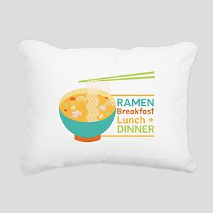 Breakfast Lunch & Dinner Rectangular Canvas Pillow