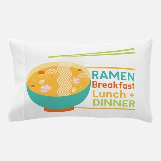 Breakfast Lunch & Dinner Pillow Case