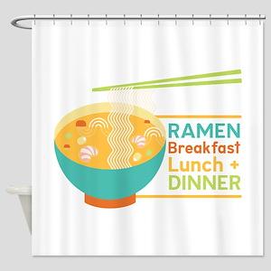 Breakfast Lunch & Dinner Shower Curtain
