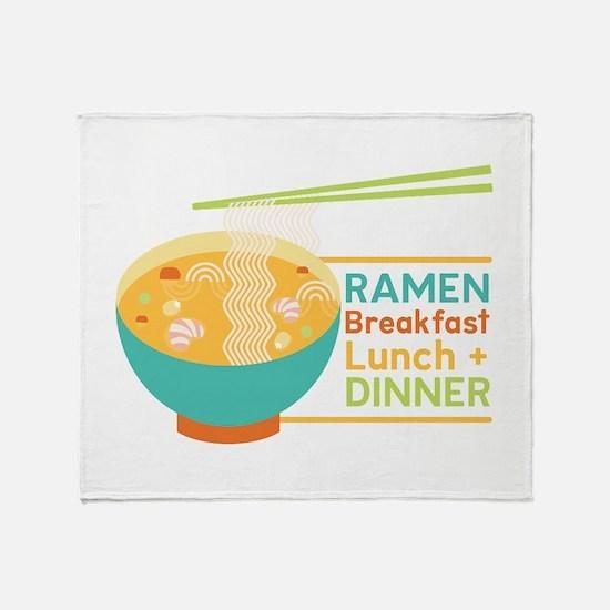 Breakfast Lunch & Dinner Throw Blanket