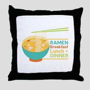 Breakfast Lunch & Dinner Throw Pillow