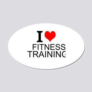 I Love Fitness Training Wall Decal