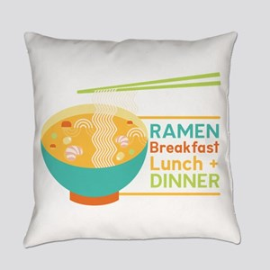 Breakfast Lunch & Dinner Everyday Pillow