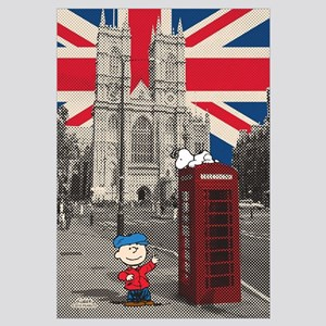 Snoopy And Charlie Brown - London Wall Art