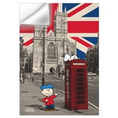 Snoopy And Charlie Brown - London Wall Art Wall Decal