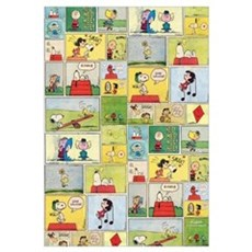 Peanuts - Classic Comic Strip Wall Art Canvas Art