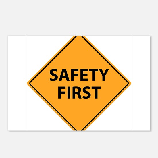Safety First Sign Postcards (Package of 8)