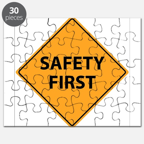 Safety First Sign Puzzle