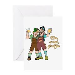 Drink Up Oktoberfest Greeting Card