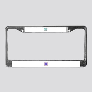 People are like French Horn License Plate Frame