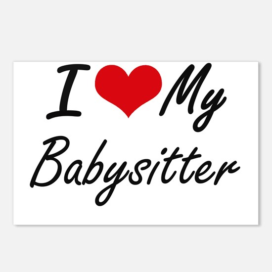 I love my Babysitter Postcards (Package of 8)