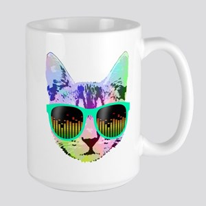 Rainbow Music Cat Mugs