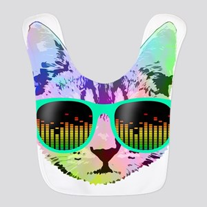 Rainbow Music Cat Bib