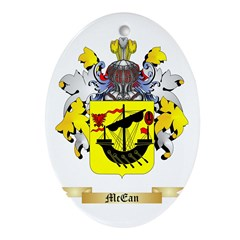 McEan Oval Ornament